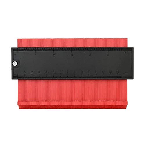 HEHUANG Profile Gauge 6-Zoll-Profilreplikator Fliesenkantenprofil Lineal zum Kopieren unregelmäßiger Formmarkierungswerkzeuge Rot, Rot