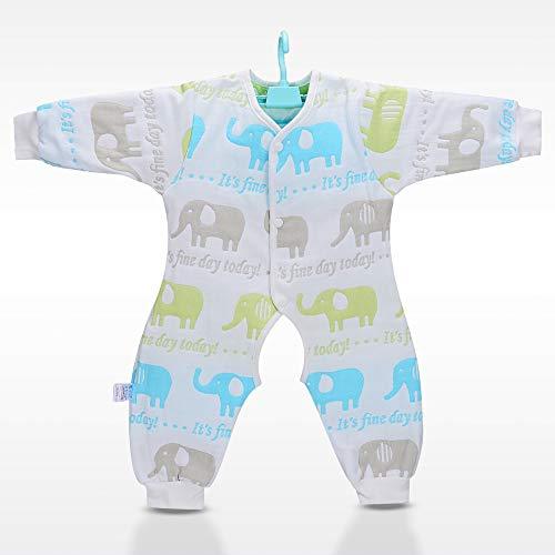 DYMAS Hochwertige Kinder Kleidung Baby liefert 6 Lagen Baumwolle Gaze, die schlafenden Tasche Anti-Kick zum Anzug die J gecrawlt Wird Umpsuit