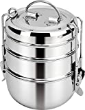 Shree Shyam Stainless Steel Tiffin Box, Lunch Box, Lunch Boxes (3 Tier)