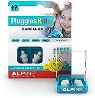 Alpine Pluggies Kids Oordoppen voor kinderen - Oordopjes voor kleine gehoorgangen - Voor Vliegen, Zwemmen en...