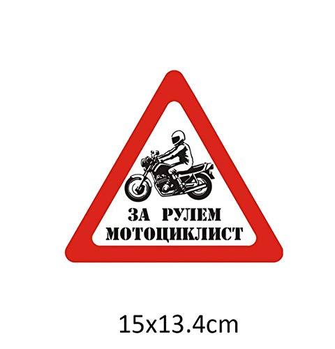 2PCS 15x13.4cm autostickers vinyl een man Motorrijder besturen Met een helm auto stickers en stickers