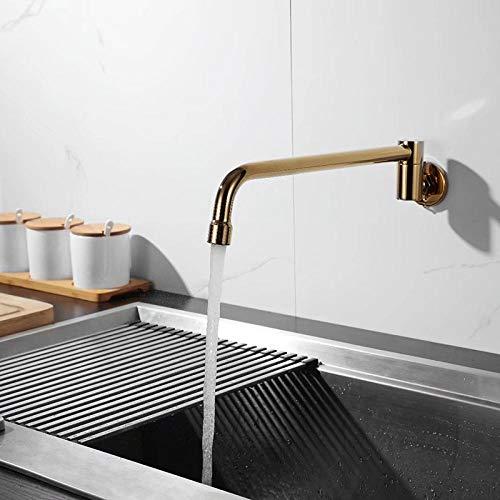 Grifo de cocina de latón, grifo oscilante, grifo de cocina semiautomático para hoteles y restaurantes-titanio
