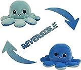 *Shenjia Peluix de Polp Reversible, Bufons Mini Peluixos, ninot de Peluix Suau, Mostra el teu Estat d'ànim amb emoció