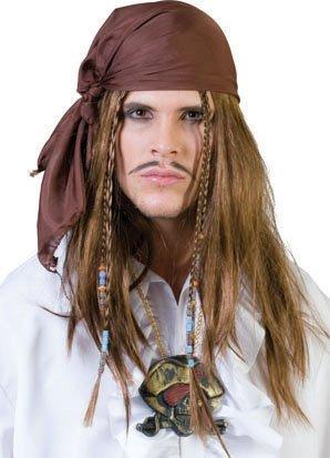 Perruque de pirate avec bandana
