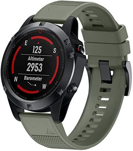 Gransho Correa de Reloj Compatible con Garmin Fenix 6X Pro/Fenix 6X Sapphire/Fenix 3 / Fenix 5X Plus/5X Sapphire, Impermeable Reemplazo Correas Reloj Silicona Banda (Pattern 1)