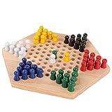 RENFEIYUAN Chinesische Checkers, chinesische Checker Set, verbessert die Konzentration und Beobachtung des Kindes, für Brettspiel Family Game Board Game Family Kid Spiel damespiel