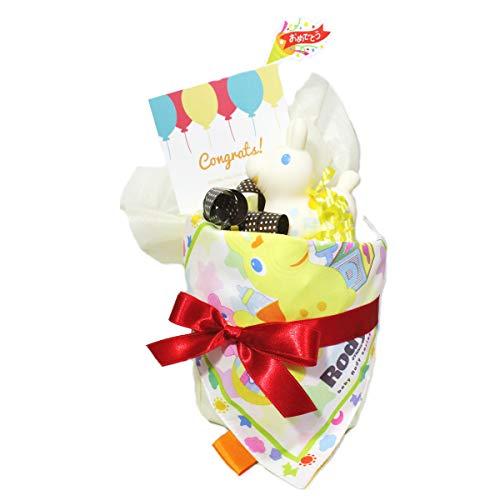 ロディ おむつケーキ 出産祝い ミニサイズ パンパースS 男の子 女の子 (ホワイトロディ)