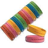 Bracelet anti-moustique -12 packs tous les bracelet anti-moustique naturel bracelet insectifuge bracelets voyage pas de détritus non toxique pour les enfants et les adultes