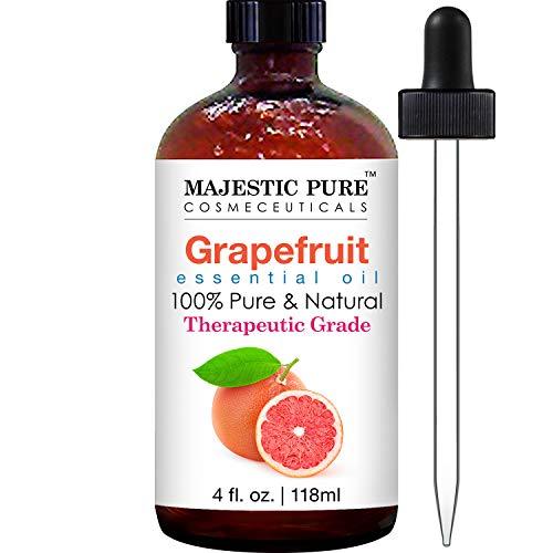 Majestic Pure Grapefruit Essential Oil, Pure and Natural, Therapeutic Grade Grapefruit Oil, 4 fl. oz.