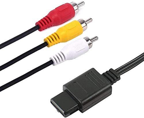 Daugee N64 AV Kabel, 1.8m Sync Premium Composite RCA TV AV Display Kabel kompatibel mit Nintendo N64, Gamecube und SNES