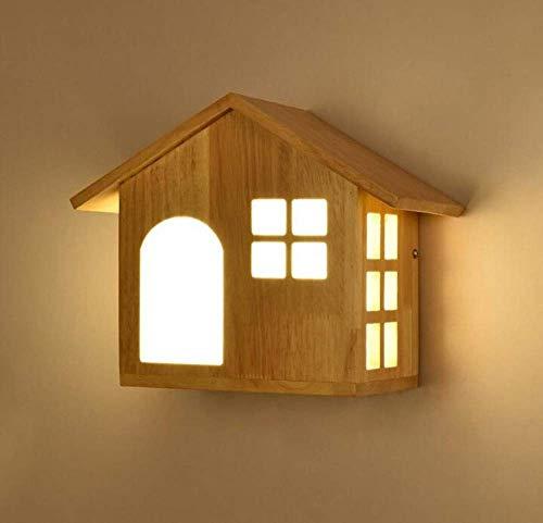 Preisvergleich Produktbild W.Z.H.H.H Mode Hut Holzwandleuchten for dekorative Schlafzimmer Wohnzimmer Aisle Corridor Hotel Hotels Creative Lighting Outdoor Mütze (Size : Without Stand)