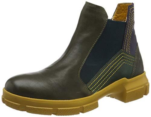 Think! Damen IAZ_585134 Chelsea Boots, Mehrfarbig (Rosmarin/Kombi 65), 43 EU