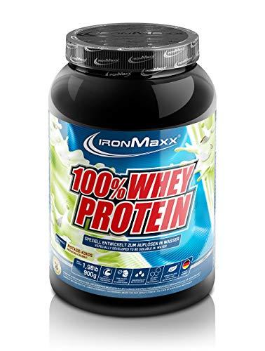 IronMaxx 100% Whey Protein – Proteinpulver auf Wasserbasis – Eiweißpulver mit Pistazie-Kokos Geschmack – 1 x 900 g Dose