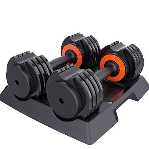 XYZLEO Kurzhanteln 2er Set Einstellbar Hanteln 25lb Gusseisen Kurzhantelset Schnell Einstellen 5 Dateien Hanteln 8 Verriegelungsschlitze Sicherheit Gewichte Hanteln (5,6 Kg * 2)