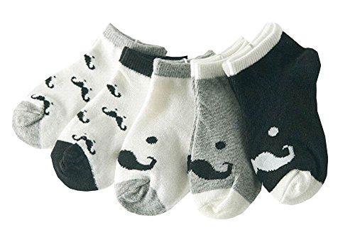 Cute Baby Printemps / Eté / Automne chaussettes en coton Un ensemble de 5 paires