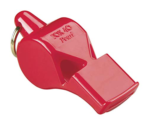 Fox 40 Pearl Whistle, Referee-Coach, Safety Alert, Dog, Rescue, Outdoor-Red