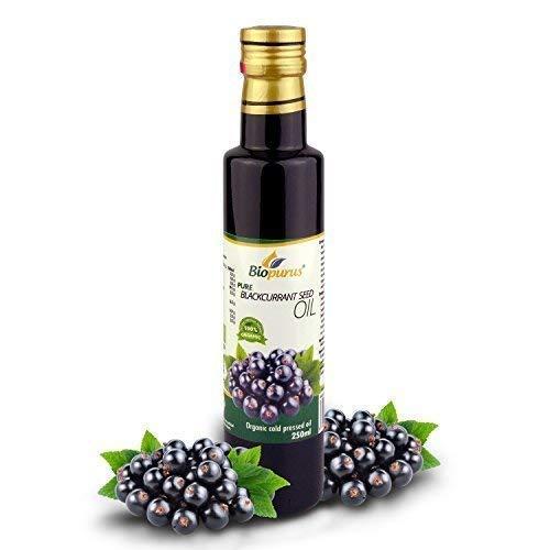 Zertifiziertes Bio Kaltgepresst Schwarze Johannisbeere Samenöl 250ml Biopurus