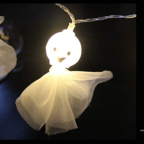 Halloween Led String Light, Fabric Halloween Ghost Light String, Outdoor Indoor Decoration, Horror and Thrilling Atmosphere Embellishment