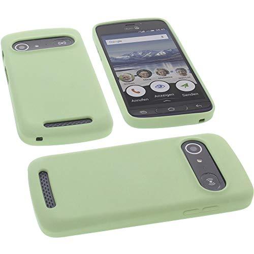 foto-kontor Hülle für Doro 8040 Tasche Silikon TPU Schutz Handytasche grün
