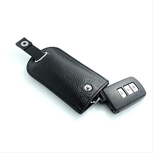 AASSXX SchlüsseletuiLuxusauto Keychain Art- und Weiseschwarzes Farben-lederner Schlüsselkasten-einfaches magnetisches Knopf-Kappen-drahtloses Telefon-Knopf-Schwarzes