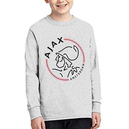 Kid's Youth Boys & Girls AJAX Amsterdam Essential T-Shirt Junior Long Sleeve...