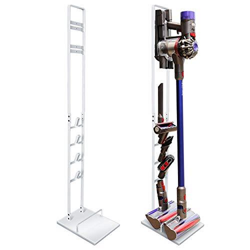 DoubleBlack Supporto Terra Aspirapolvere Dyson V6/V7/V8/V10 Stand Porta Accessori Pavimento Sostegno - Bianca