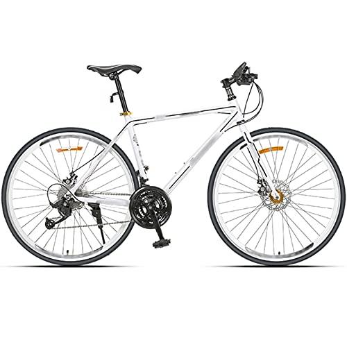 WPW Ruote da 27,5 `` Mountain Bike, MTB in Lega di Alluminio a 27 velocità, Bici da Strada con Freni a Doppio Disco - Uomo Donna (Color : Bianca, Taglia : 27.5 Inches)