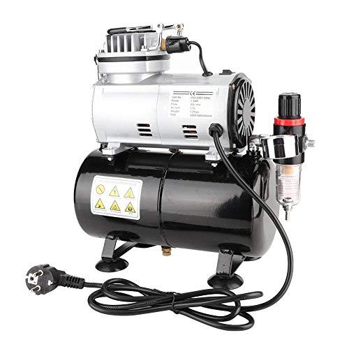 Jadpes Mini-Airbrush-Kompressor, T186 Mini-Pumpenmodell Spezieller Luftpumpen-Sneaker-Inkjet-Luftpumpen-Sneaker-Sprühkompressor mit 1/5-PS-Kolben und 23~25 l/min (58 Psi)(EU: 220V)