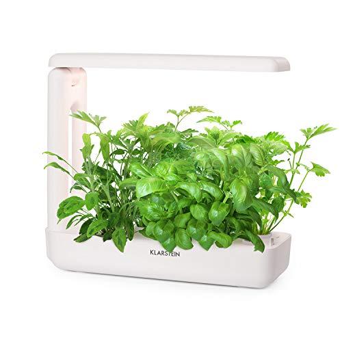 Klarstein GrowIt Cuisine - Jardín Interior Inteligente, Jardín hidropónico, hasta 12 Plantas de 25 a 40 días, Sistema automático iluminación e irrigación LED, Tanque de Agua 2L, Grow It Smart!