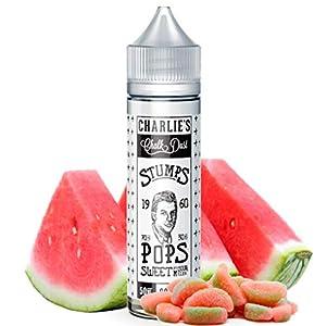 Stumps Pops Sweet & Sour Melon - Charlies Chalk Dust E-Liquid | 50ML | Sin Nicotina: 0MG | 70VG/30PG | E-Liquido para Cigarrillos Electronicos | Vaper | E Cigarette | E Shisha