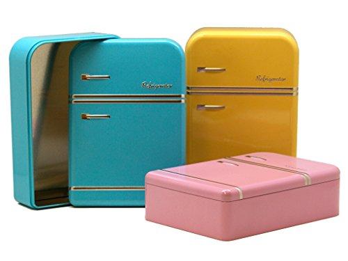 AVENUELAFAYETTE Boîte métal Réfrigérateur Vintage rétro Couleur (Jaune)