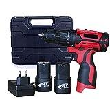 POOPFIY Profesional Taladro 12V / 16,8V Destornillador eléctrico Par máximo 25 NM / 35Nm, 2 velocidades Herramientas de Bricolaje para Trabajar la Madera,16v 2b