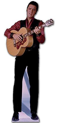 Star Cutouts kartonnen display van Elvis Singen met gitaar