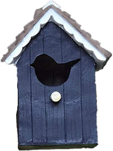 Goo-ki Oiseaux Nids for Cages Welcome Card Country Style Cottages Bird House Hanging Décoration for Les Petites Oiseaux Cabine Birdhouse Rétro Steeple Creative Bois en Plein air Birdhouse Bird House