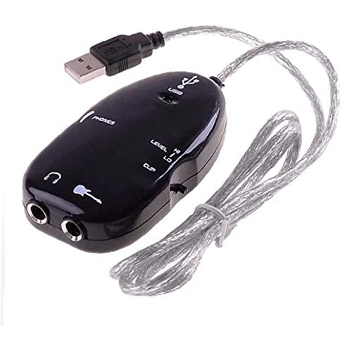 USB Adaptador De Interfaz De La Guitarra Cable De Audio USB Link Acoplamiento De La Guitarra del Amplificador De Grabación Cable De Ordenador Accesorios