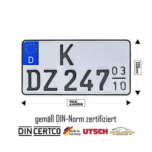 1 Carbon Saison Kfz Kennzeichen...