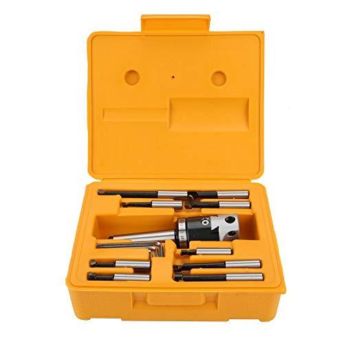 Portable 50mm Boring Head Kit, High Toughness Boring Head Set, High Accuracy for Industrial Outer Circle Boring Hole Boring End Face