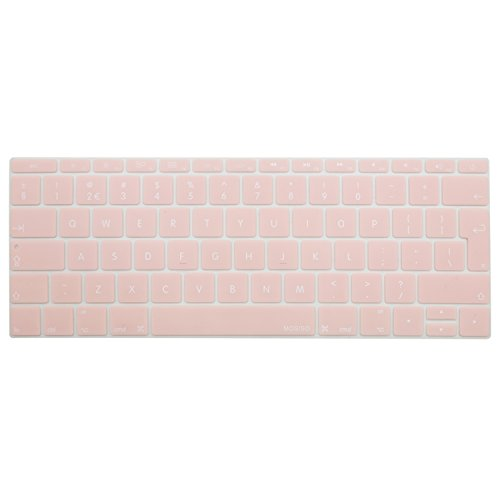 MOSISO Keyboard Cover Compatible with MacBook Pro 13 Inch 2017 & 2016 Release A1708 No Touch Bar & MacBook 12 Inch A1534 Protective Skin (EU Layout), Rose Quartz(Baby Pink)