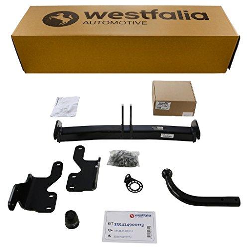 Westfalia Starre Anhängerkupplung - AHK für Toyota Auris Touring Sports (BJ ab 07/2013) im Set mit 13-poligem fahrzeugspezifischen Elektrosatz