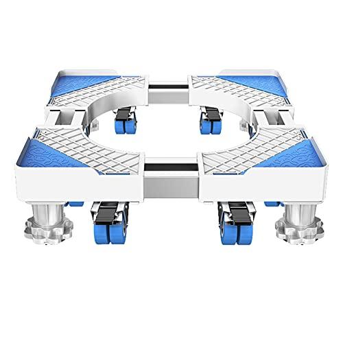 Base Mobile per Mini Frigo, Base Mobile Multifunzionale per Lavatrice, Asciugatrice, Piedistallo per Lavatrice, Piedistallo per Frigorifero, Carrello per Elettrodomestici Regolabile, Rullo Mobile