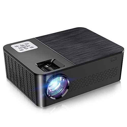 """Native 1080p Projector, Crenova 7000 Lux Home LED Projector Full HD Movie Projector 4K Supported iPhone Projector with 200""""Display, Dolby&75% Zoom for iPhone, Android, iPad, TV Stick, HDMI, USB"""