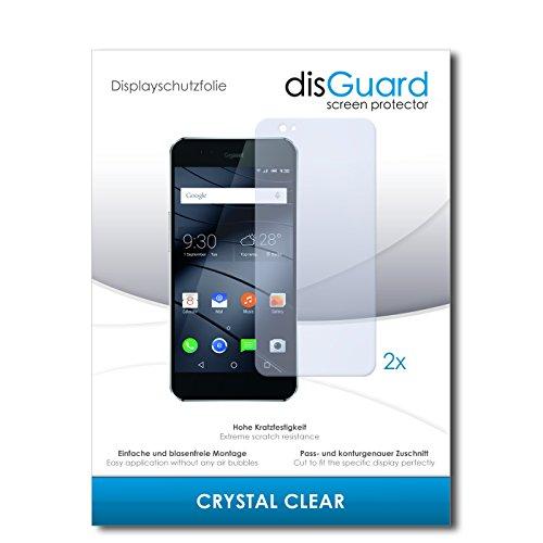 disGuard® Bildschirmschutzfolie [Crystal Clear] kompatibel mit Gigaset ME Pro [2 Stück] Kristallklar, Transparent, Unsichtbar, Extrem Kratzfest, Anti-Fingerabdruck - Panzerglas Folie, Schutzfolie