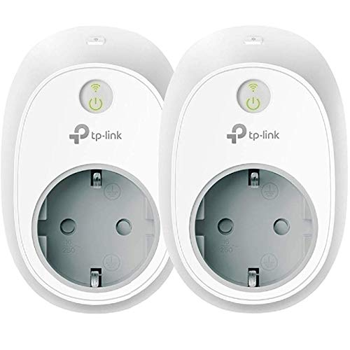 2er-Pack, TP-Link HS100 (EU) Kasa Smart WLAN Steckdose, funktionieren mit Amazon Alexa (Echo und Echo Dot, Google Home und IFTTT, Kein Hub erforderlich)