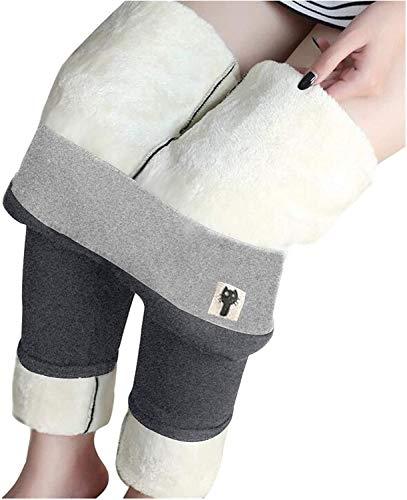 HAPPKING Warme Hosen - Super Dicke Leggings aus Kaschmirwolle Winddichte und kalte Wärme, winterwarme Frauen Elastische Leggings Hosen Fleece gefütterte Dicke Strumpfhose