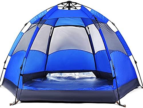 Ankon Pop Up Tent Beach Tent Tent Tents for Camping Tienda de campaña Refugio de lluvia al aire libre, Tienda Pop Up para 3 a 4 personas Tienda de apertura automática Hexagonal, Tiendas de camping fam