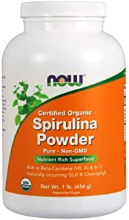 NOW Foods, ORGANIC SPIRULINA PWD 1 LB CANNISTER ( Multi-Pack)