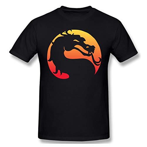 Gifetee Mortal Kombat X Hombres Suave Camiseta Black L