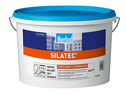 Herbol Silatec Fassadenfarbe, Weiß (5L)