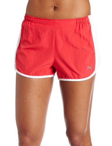 PUMA Damen-Shorts, 7,6 cm. - Rot - X-Klein