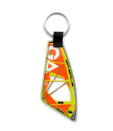Windsurfing Schlüsselanhänger Real Windsurfen Sail | Windsurfen Schlüsselanhänger (Gaastra Manic Yellow)